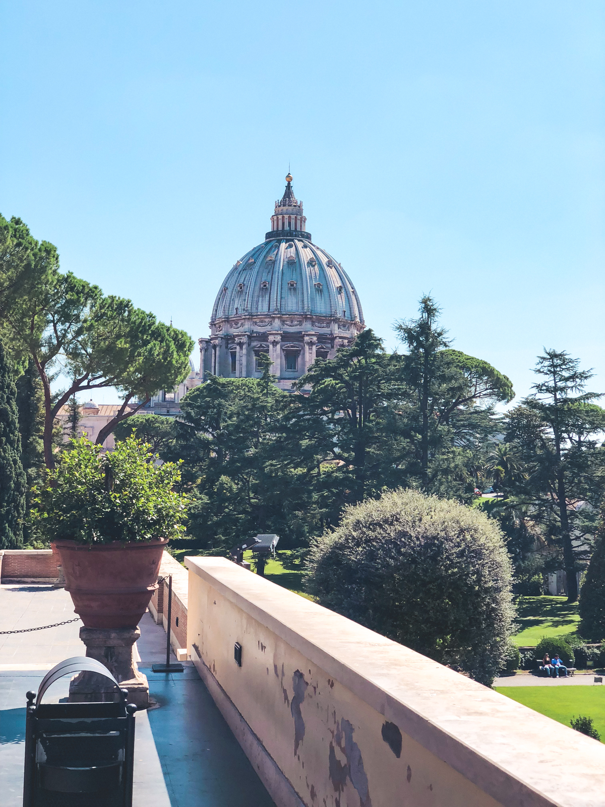 view from the Vatican in Rome