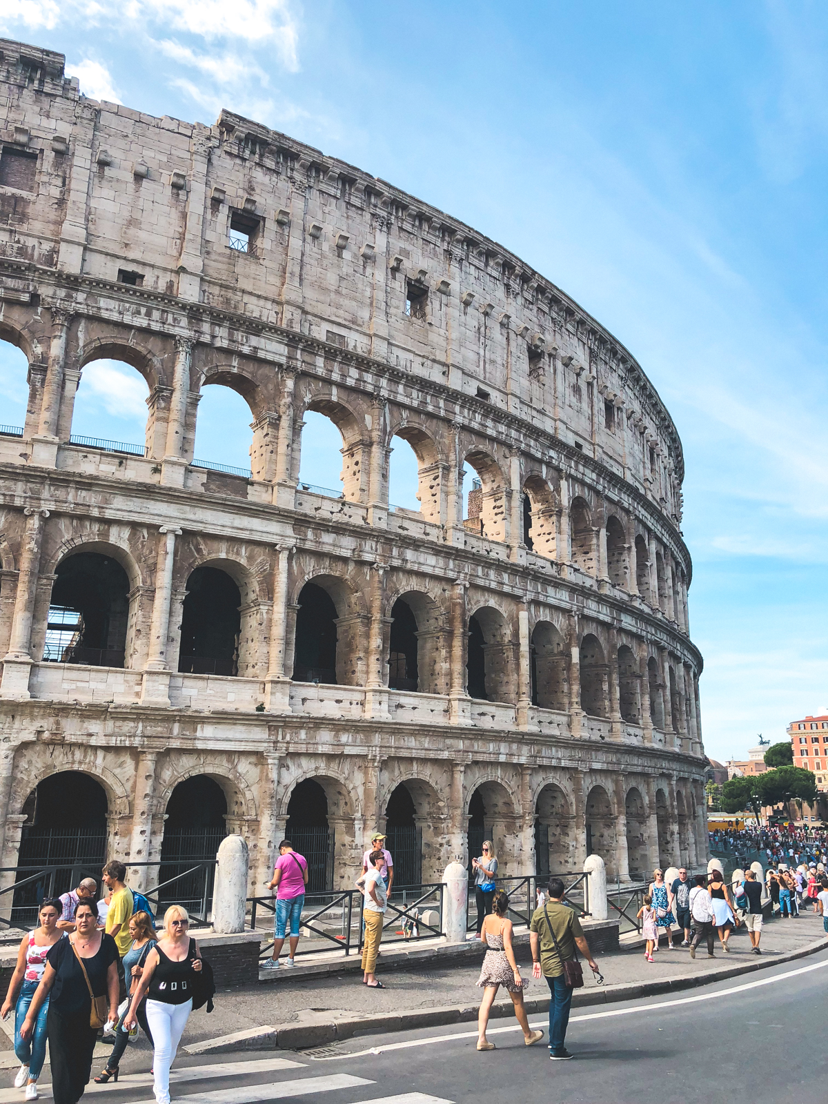 the colosseum on a sunny day