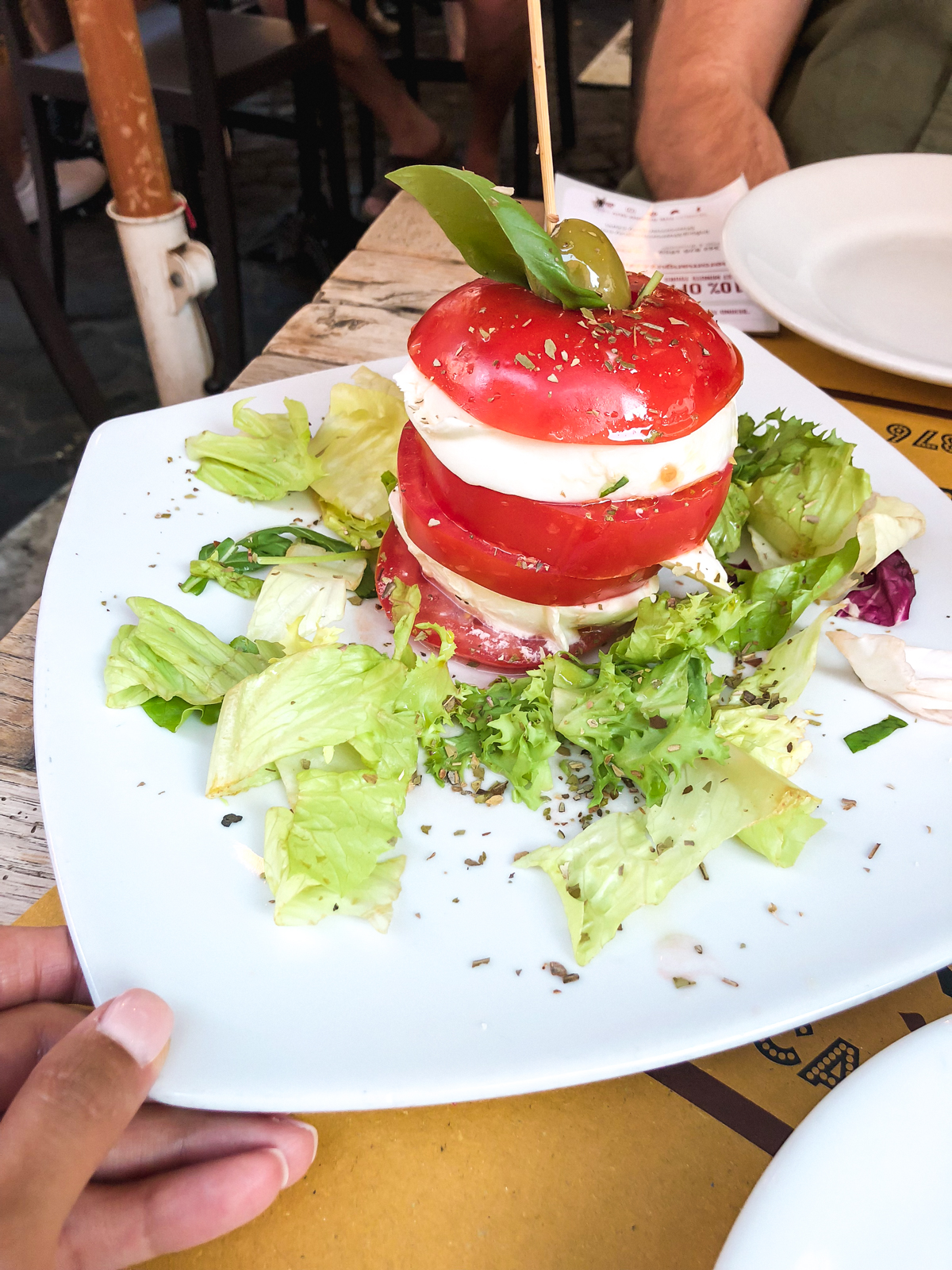 tomato and mozzarella salad from Tonnarello