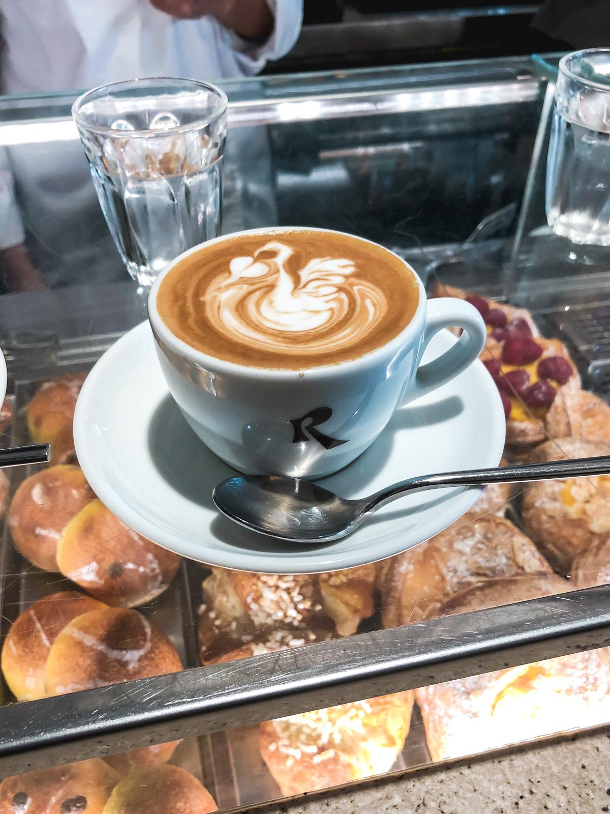 Cappuccino in Campo de Fiori Rome