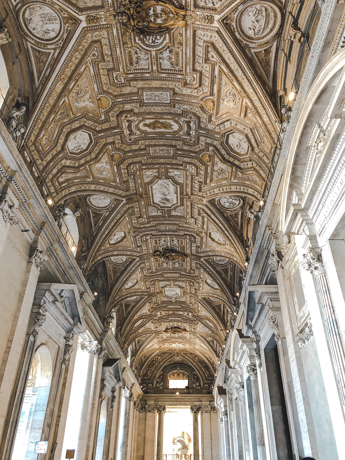 views of the artwork on the ceiling in the Vatican in Rome