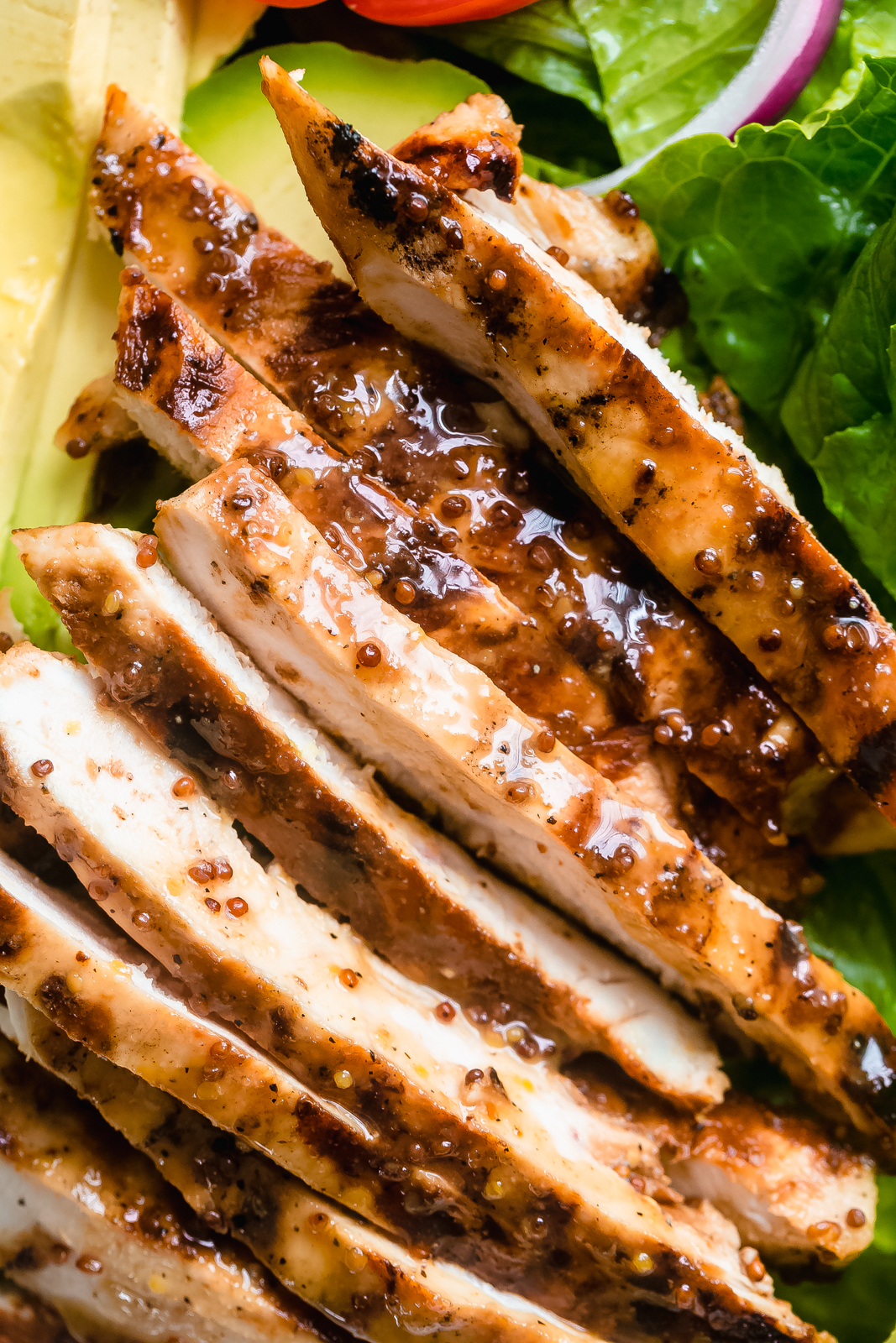 sliced honey mustard chicken