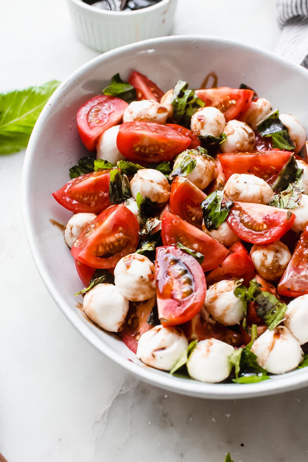 21+ Marinated Mozzarella Tomato Salad Recipe   Little Spice Jar Fotos
