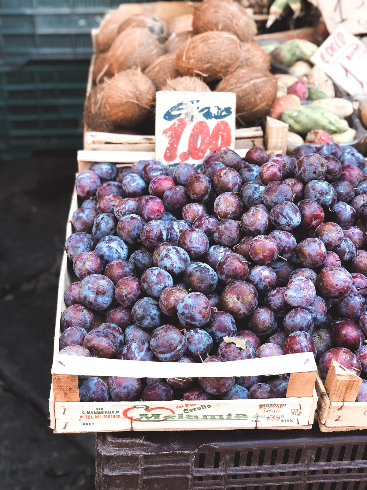 fresh fruit from a market in Naples