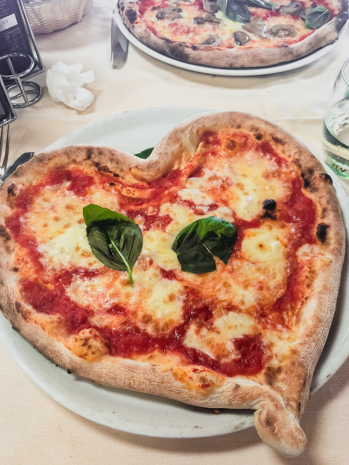 heart shaped pizza from Chez Black