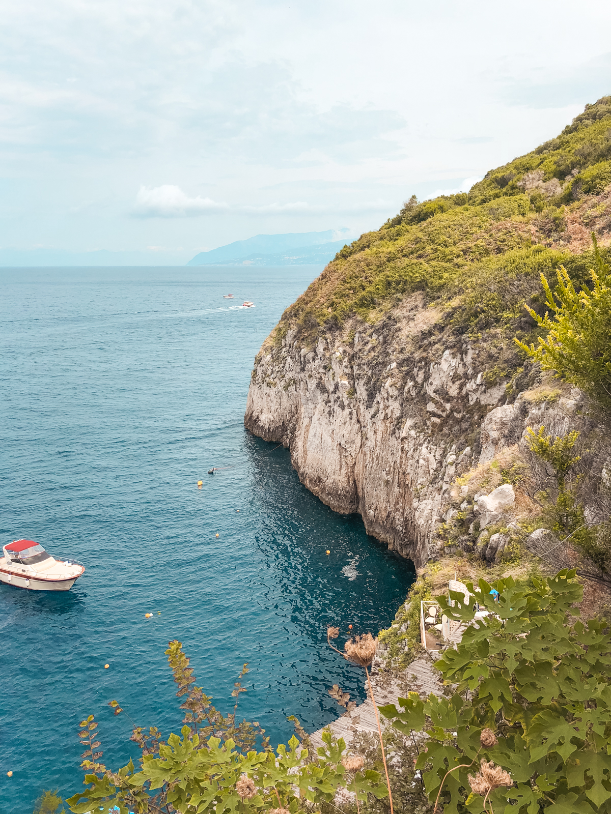 picture above the blue grotto from a distance