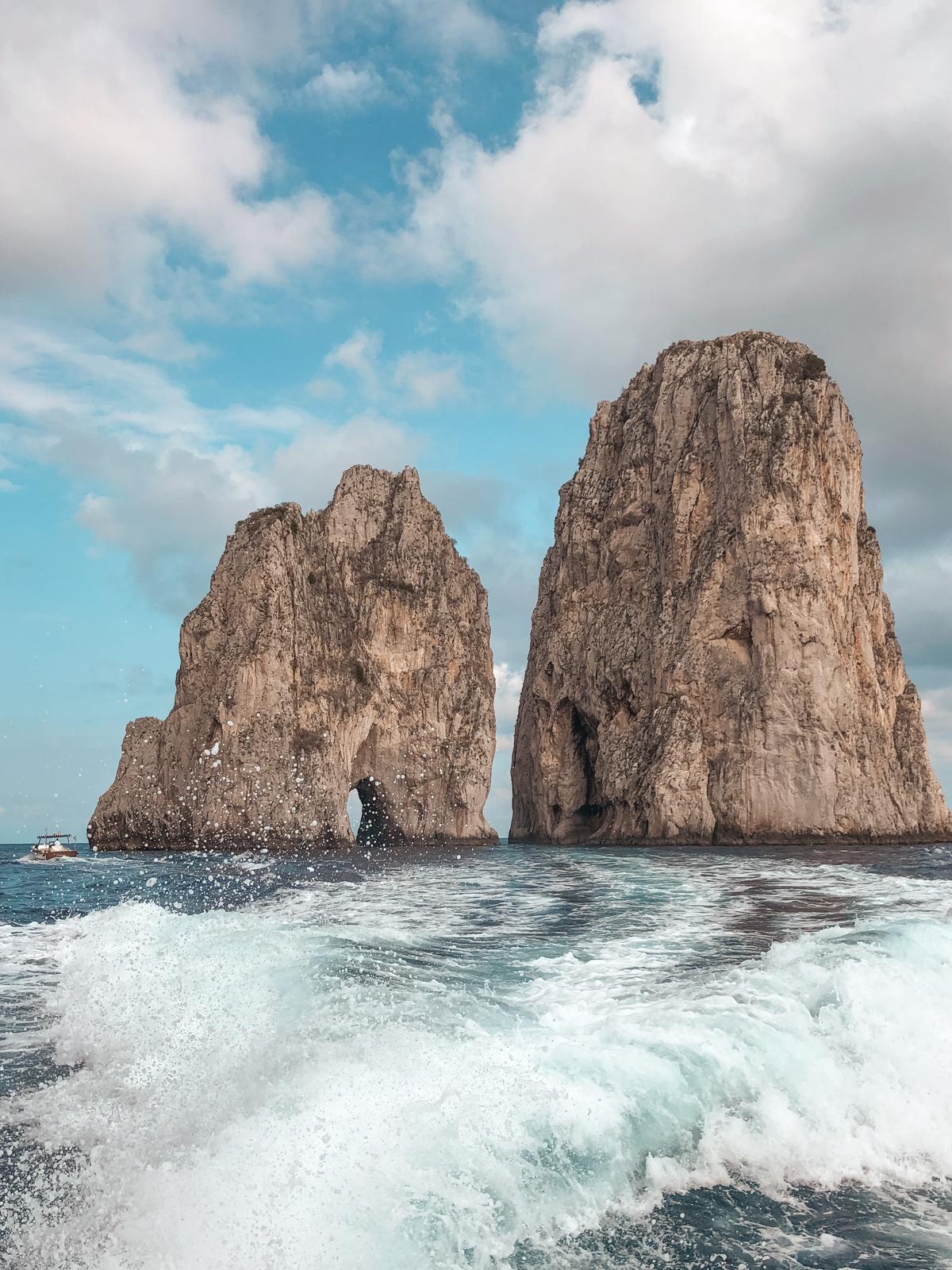 iconic faraglioni rocks