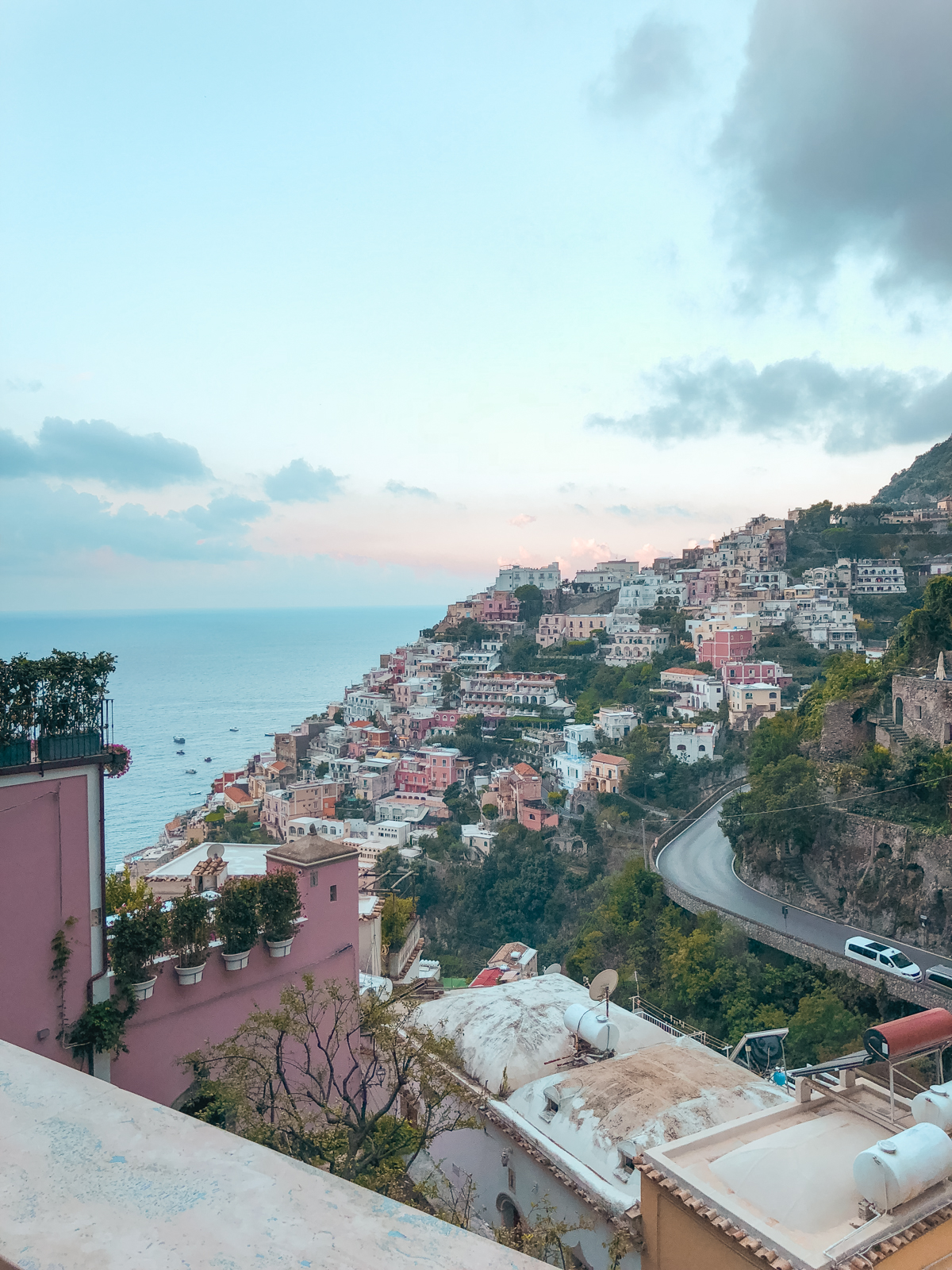 Positano view from our airbnb balcony