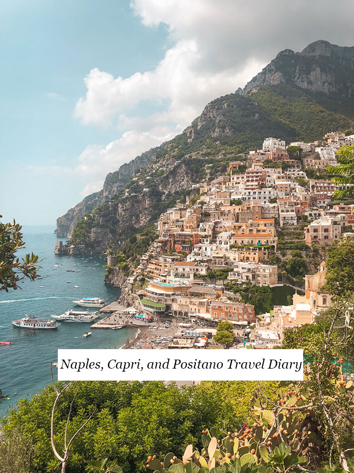 hero image of Positano with text for pinning on Pinterest
