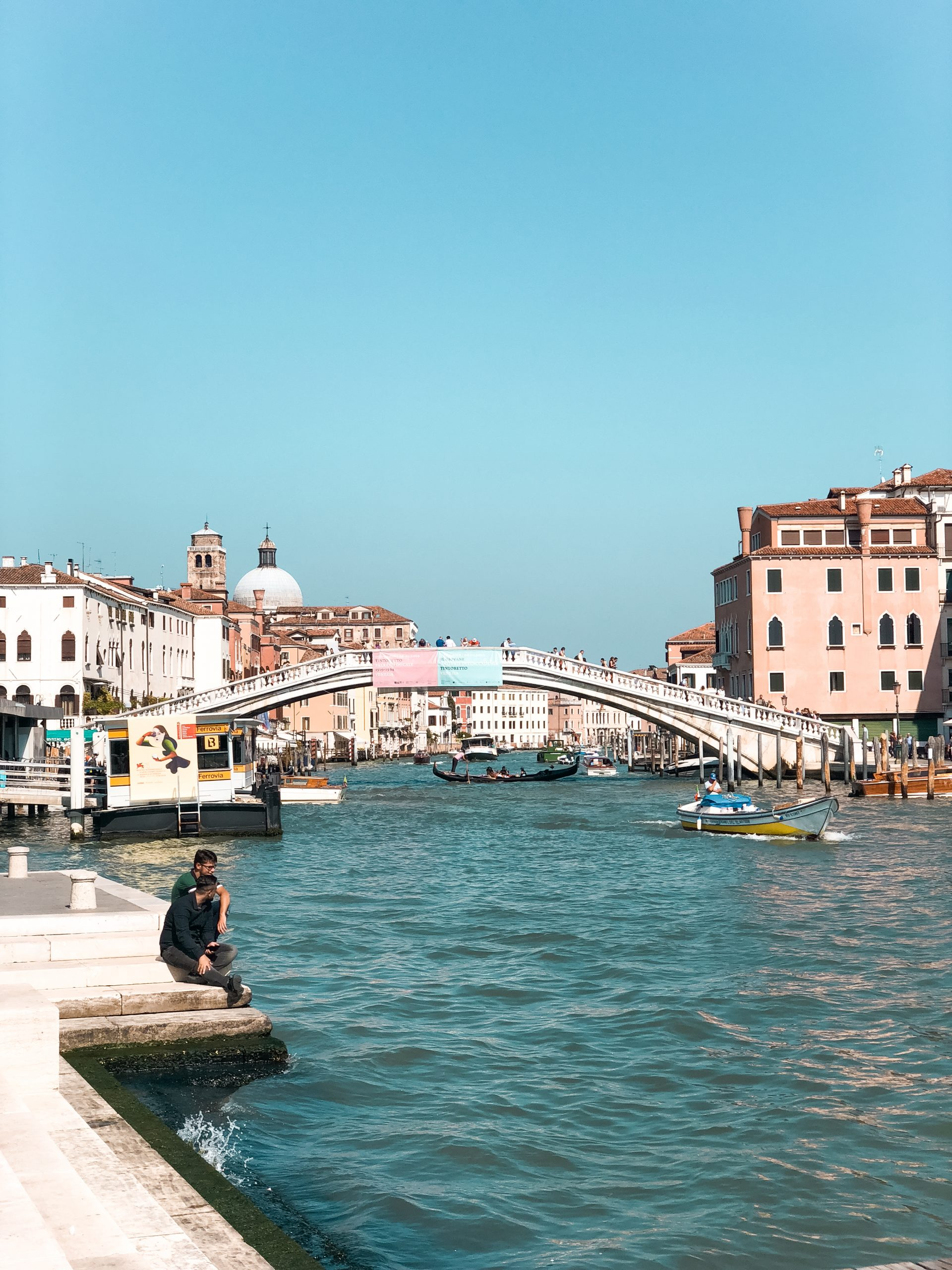 picture of one of the bridges visible from the trainstation on Venice