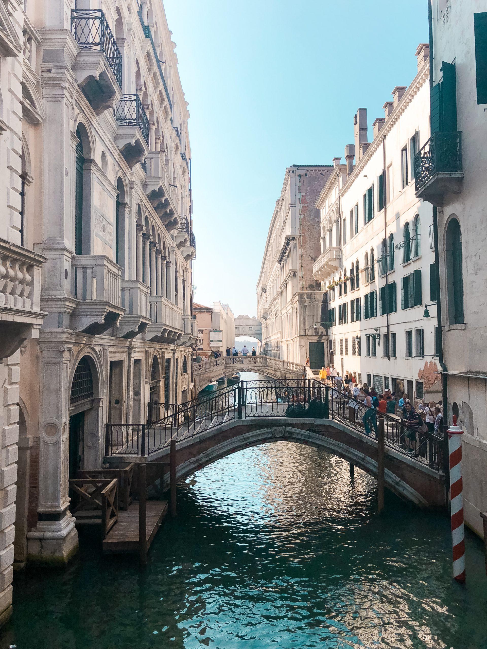 small bridge on Venice canal