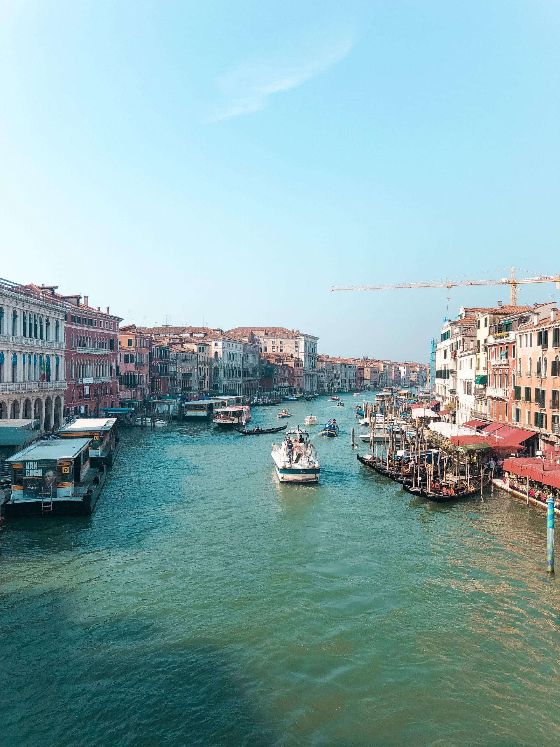 picture from Rialto Bridge in Venice