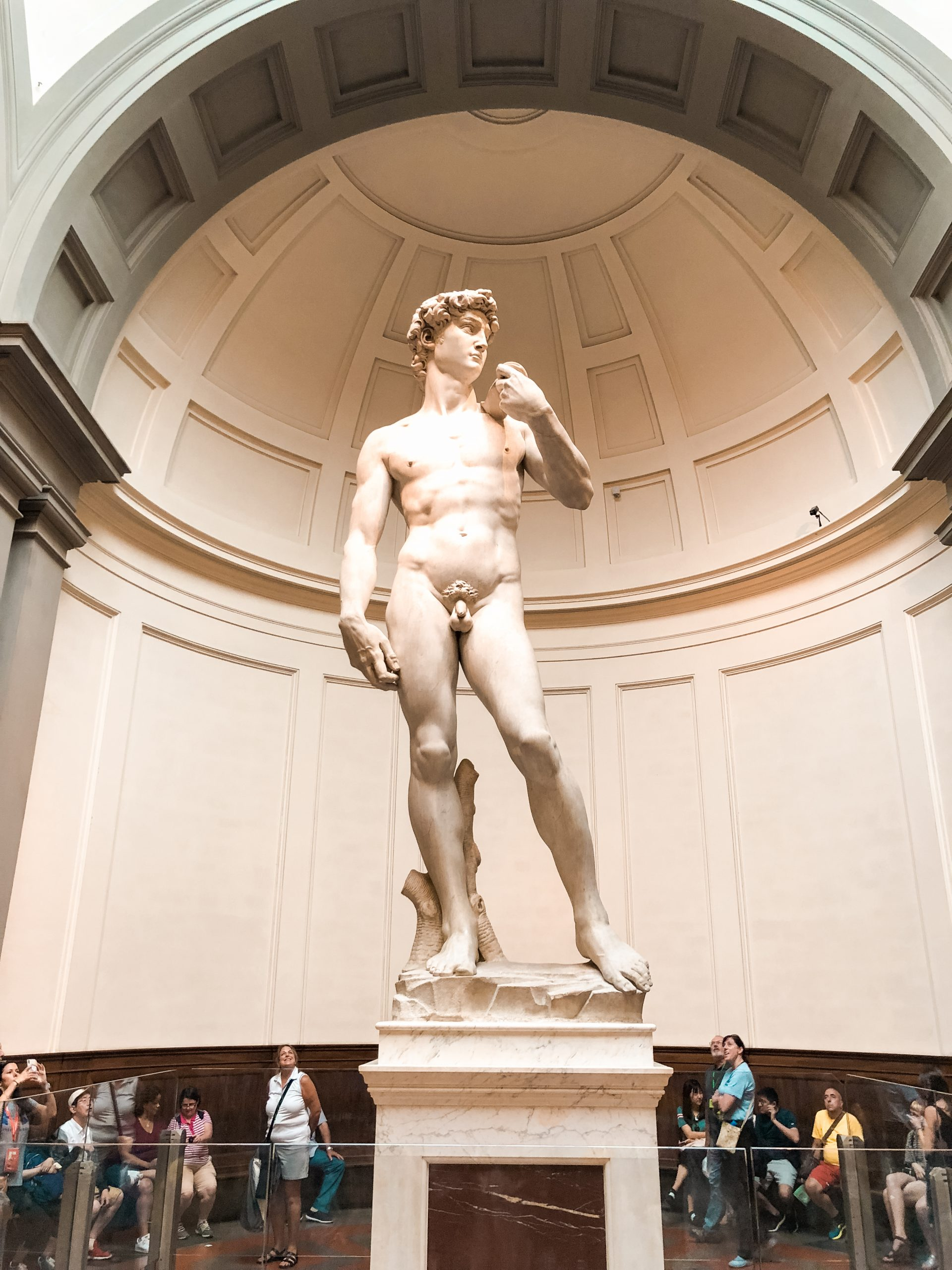 statue of David at Galleria dell' Accademia