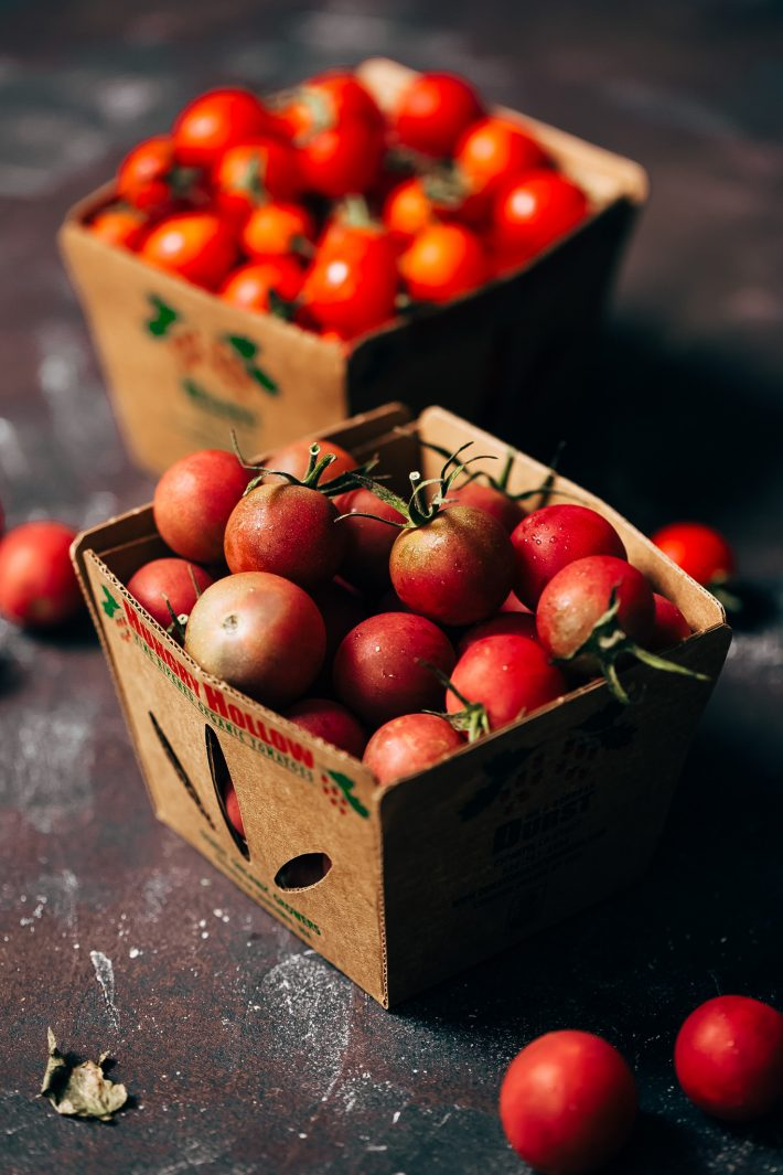 freshly cherry tomatoes from the market