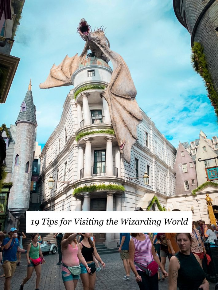 Picture of Gringotts with text created solely for Pinterest