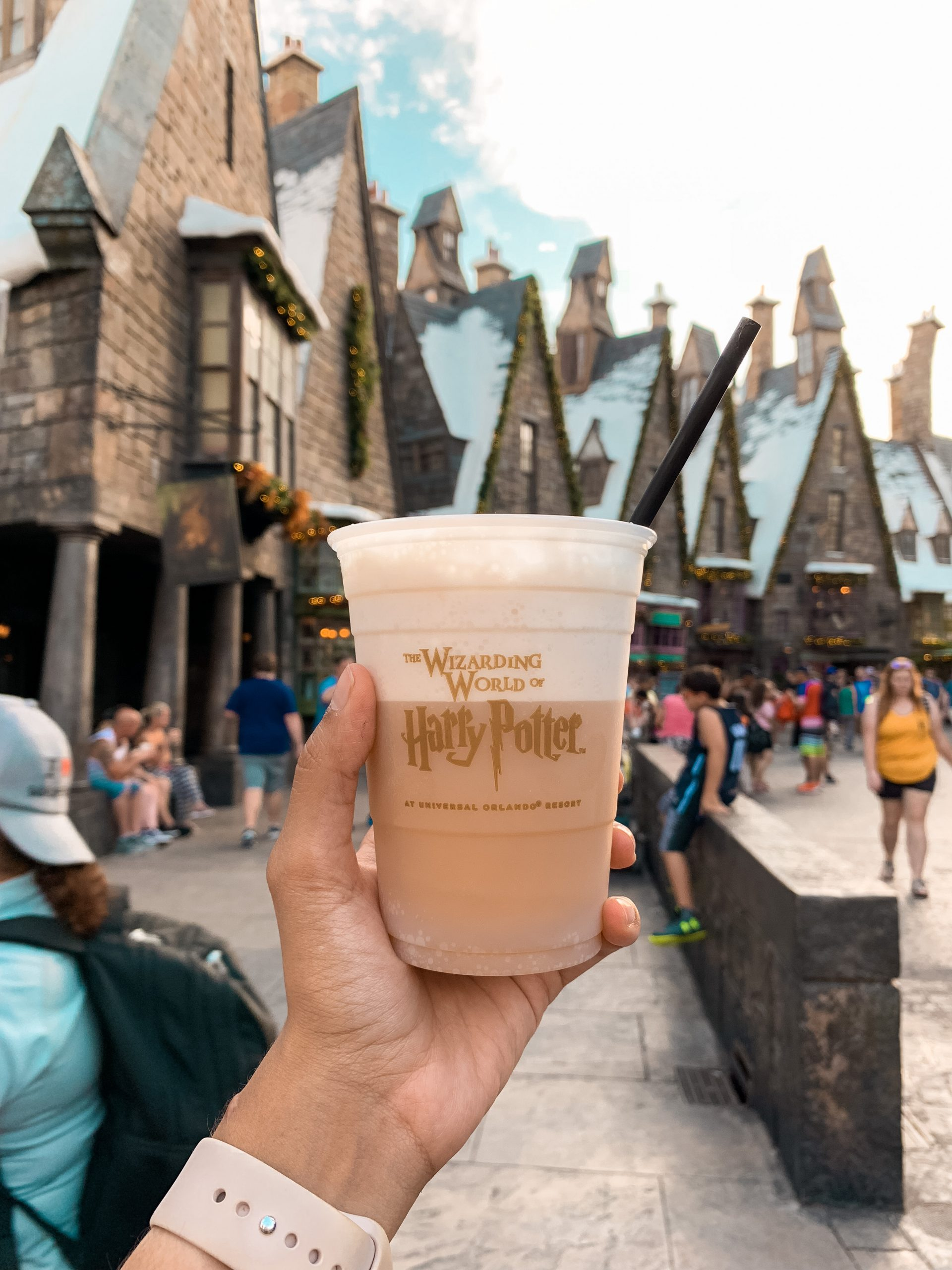butterbeer at the Wizarding World of Harry Potter Universal Studios Orlando
