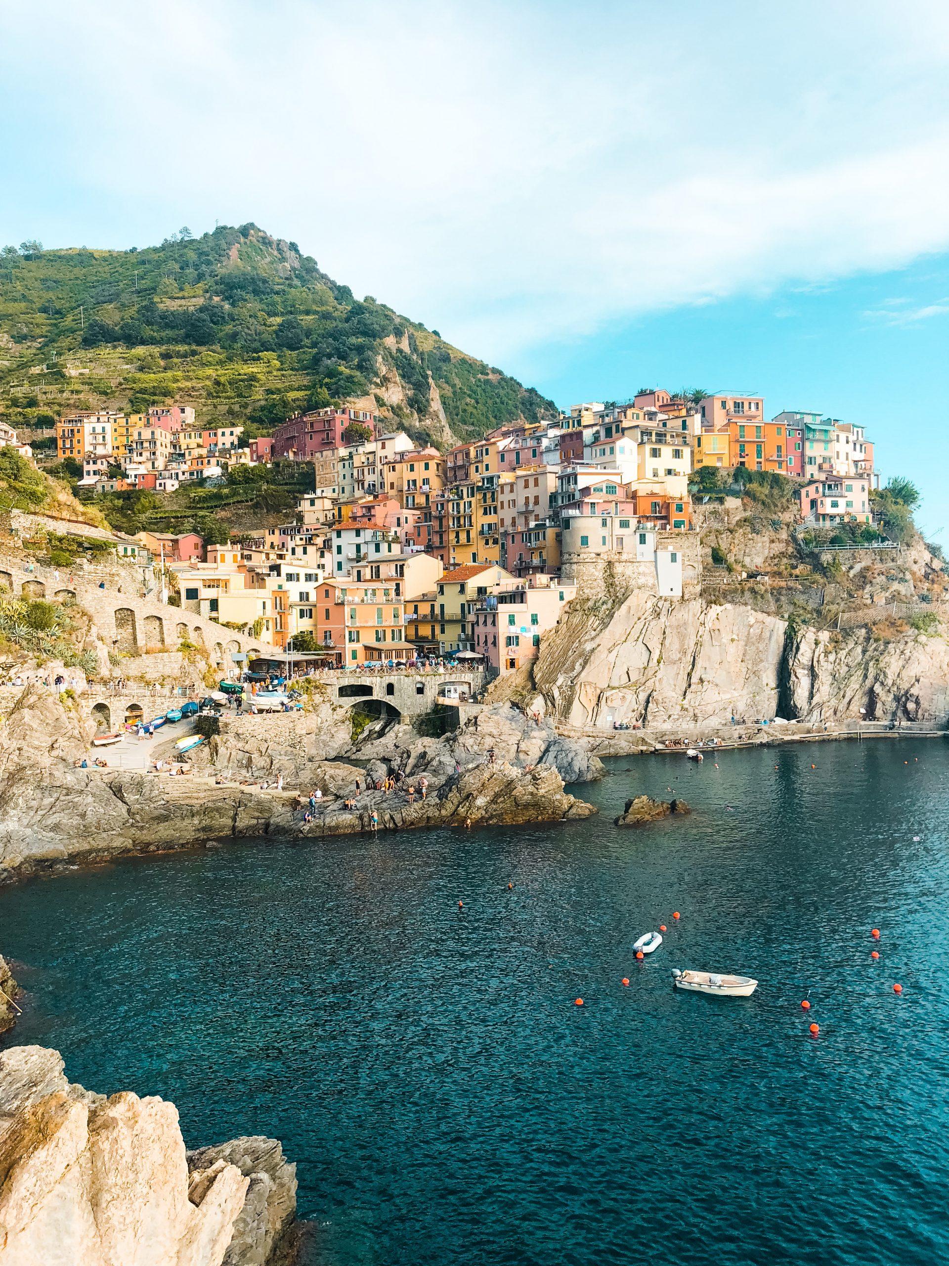 the coastline of Vernazza