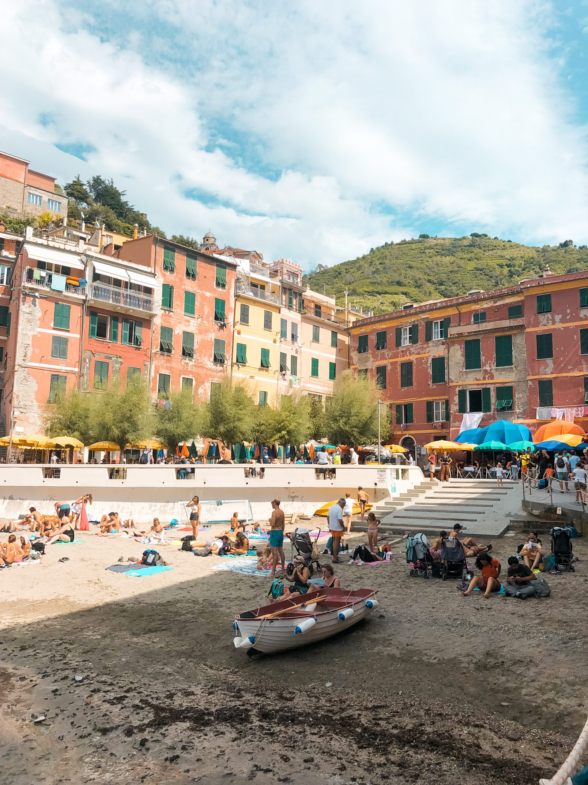 a picture of the colorful buildings on Vernazza