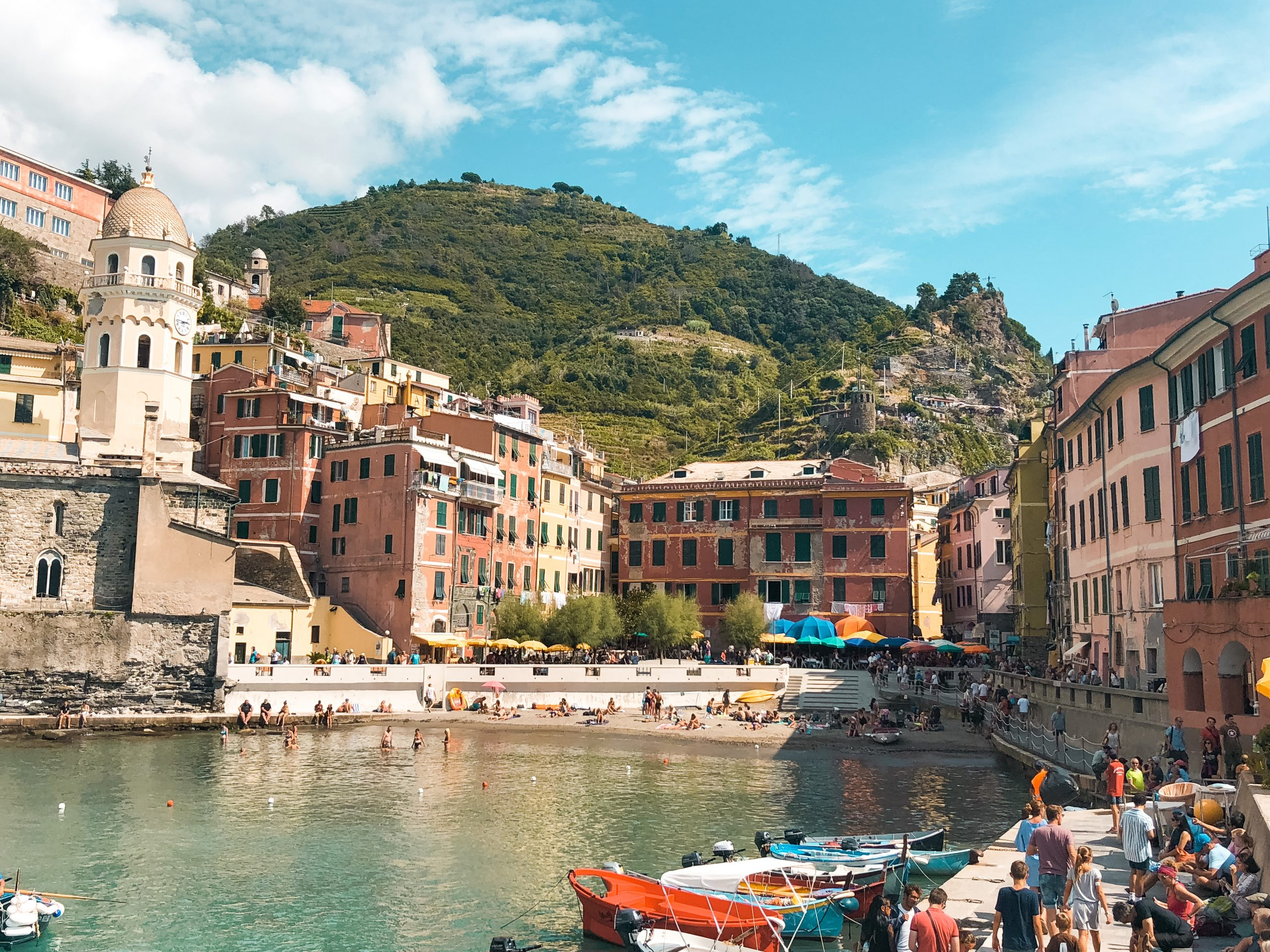 the water harbor on Vernazza