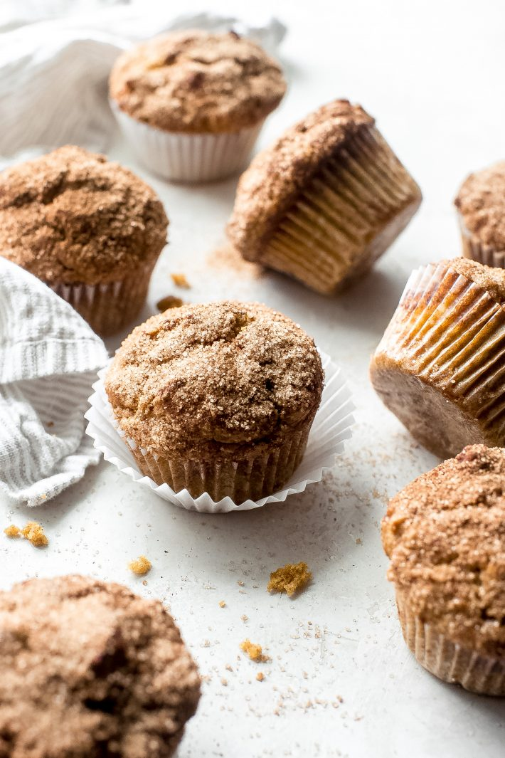 Pumpkin Snickerdoodle Muffins - everything you love about snickerdoodle cookies and pumpkin muffins smushed together into one! Tender and so delicious with a cup of coffee in the fall! #pumpkinmuffins #bestpumpkinmuffins #pumpkinrecipes #fallbakingrecipes #fallbaking #snickerdoodle | Littlespicejar.com
