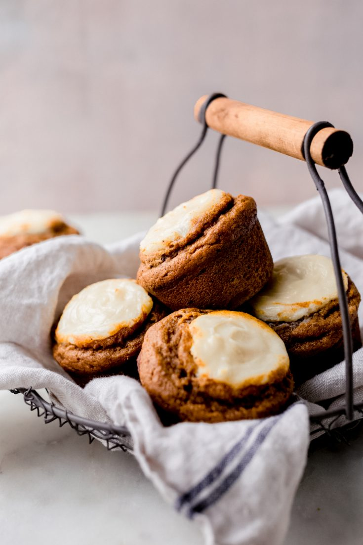 Spiced Chai Pumpkin Cheesecake Muffins