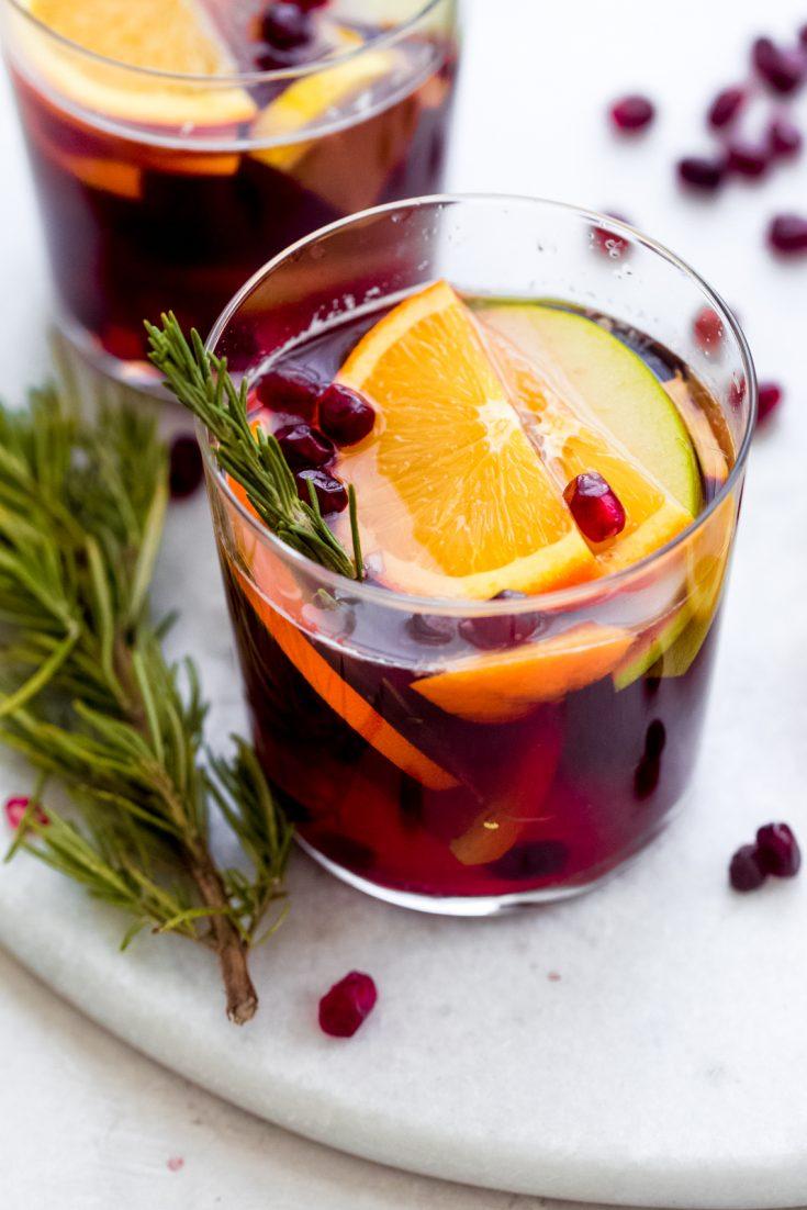 Festive Sangria Mocktail