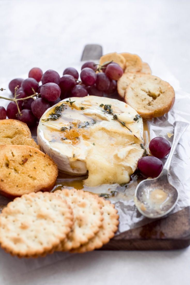 Herb Garlic Baked Brie