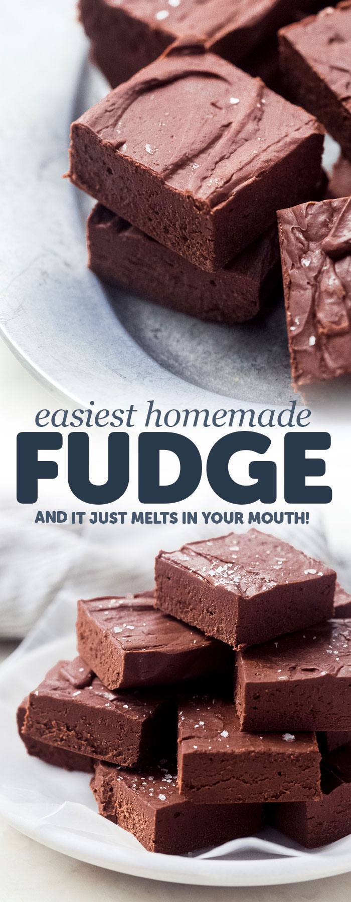 Melt in Your Mouth Homemade Fudge - delicious squares that take just 15 minutes of hands on time! Homemade fudge is a great gift for family and friends! #fudge #fudgerecipe #homemadefudge #chocolatefudge | Littlespicejar.com