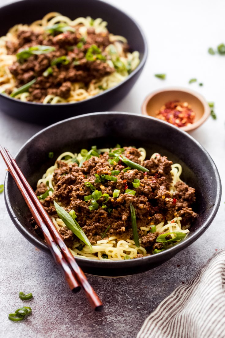 Weeknight Dan Dan Noodles (Just like Take-out!)