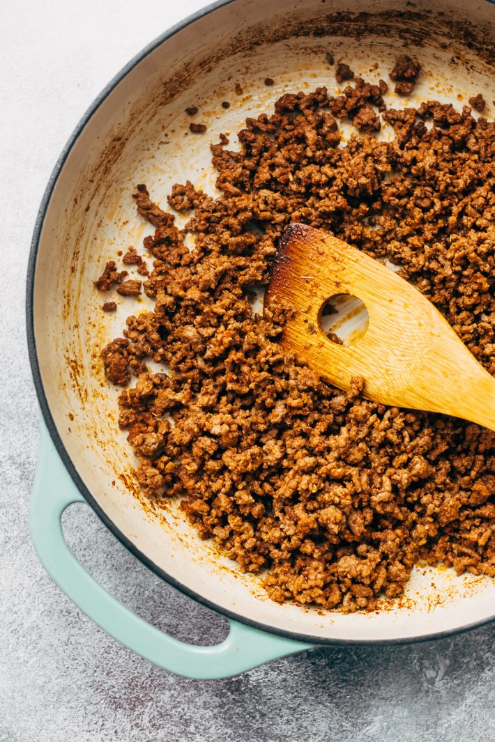 Ground beef for Low Carb Eggplant Lasagna Roll Ups