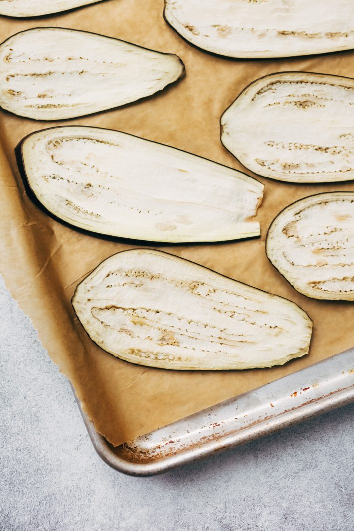 Eggplant Sheets for Low Carb Eggplant Lasagna Roll Ups