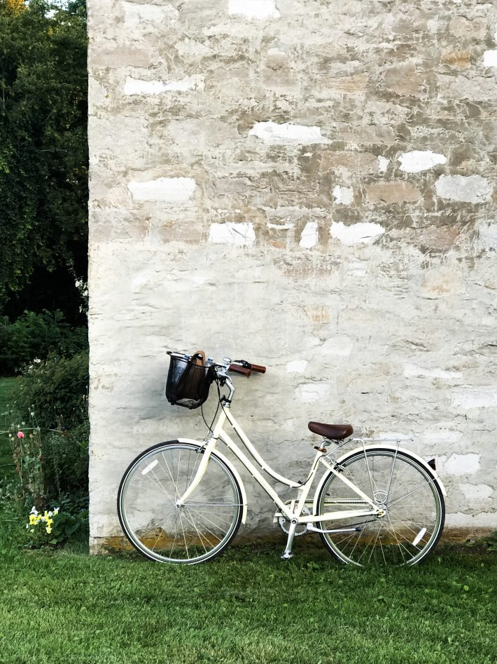 Bike leaning against a wall