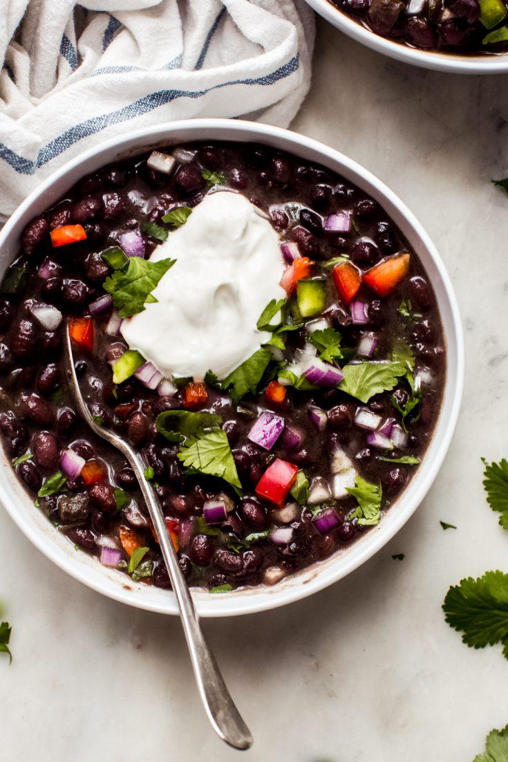 Very Best Cuban Black Bean Soup (Stovetop + Instant Pot)