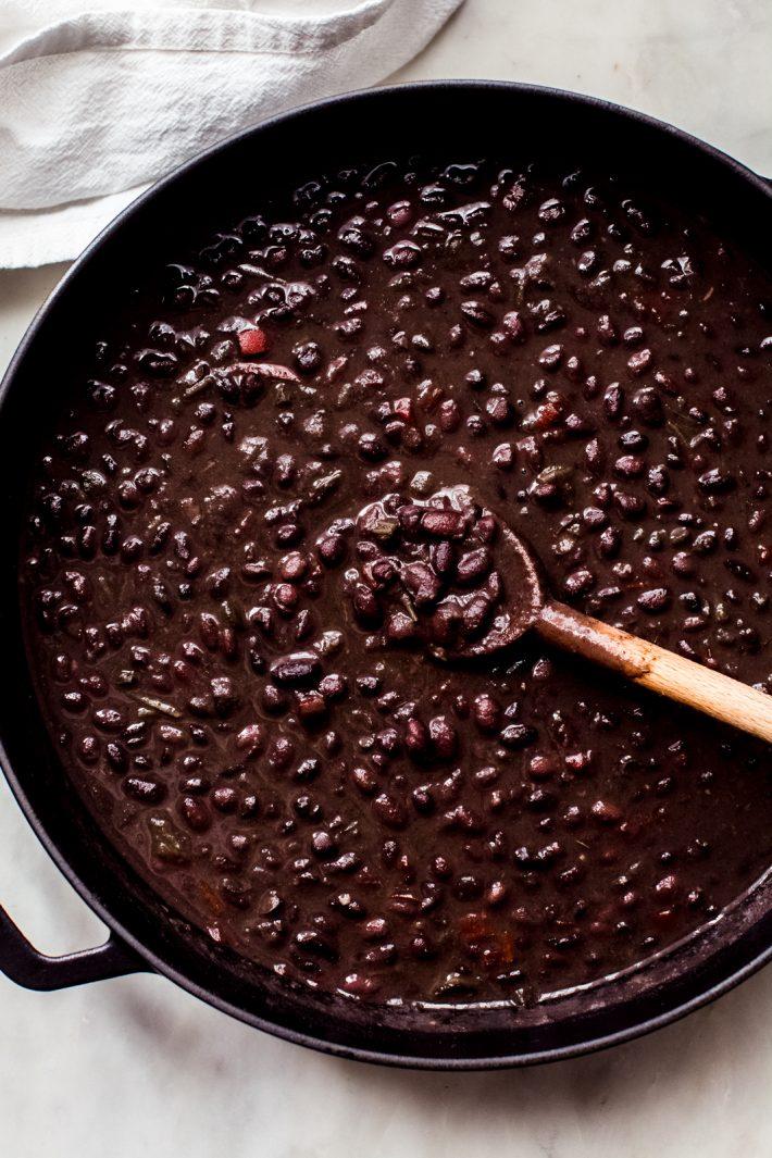 simmered cuban black bean soup