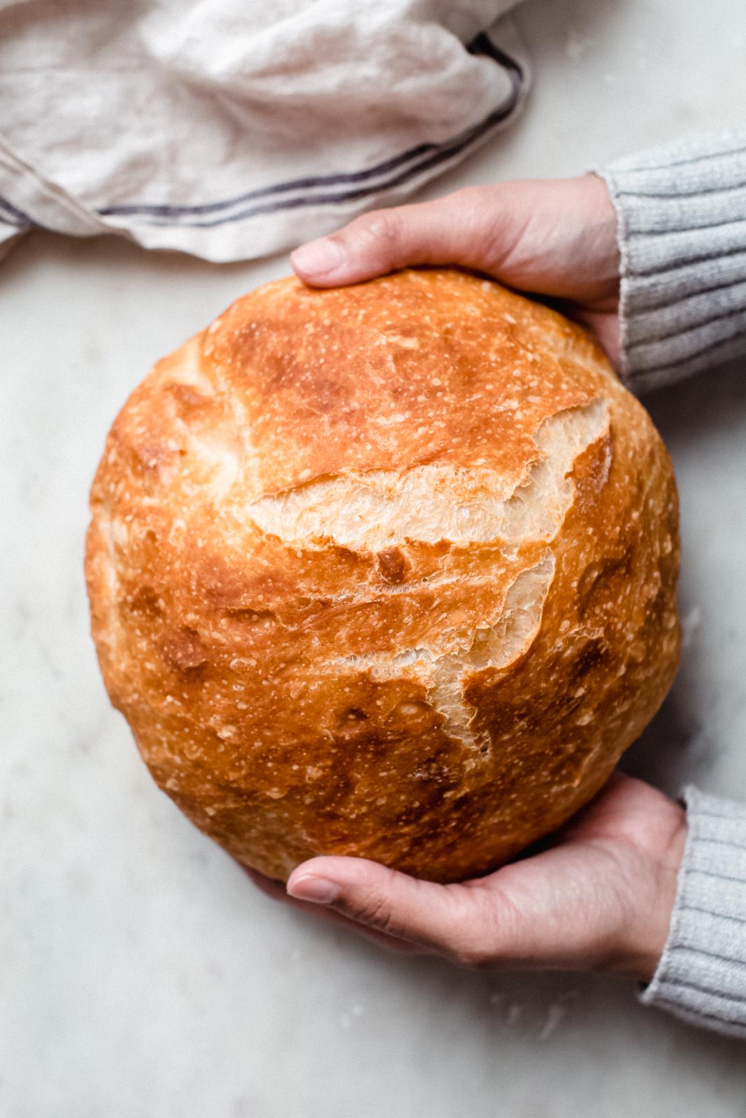 Easy No Knead Bread Recipe Made In A Dutch Oven Little Spice Jar