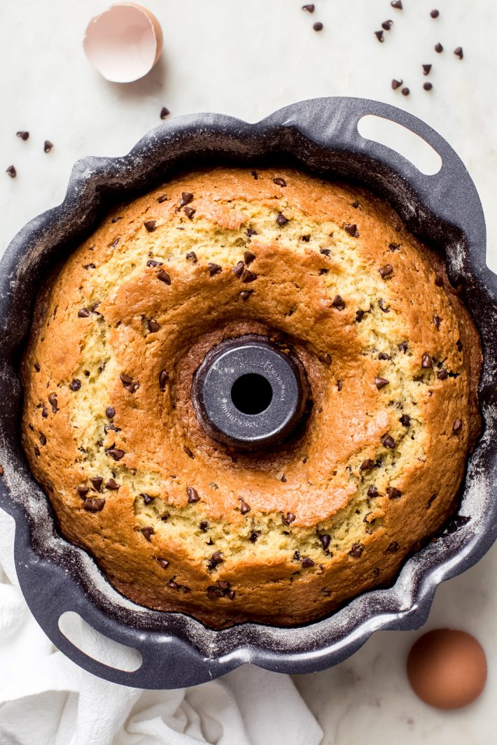 baked chocolate chip bundt cake