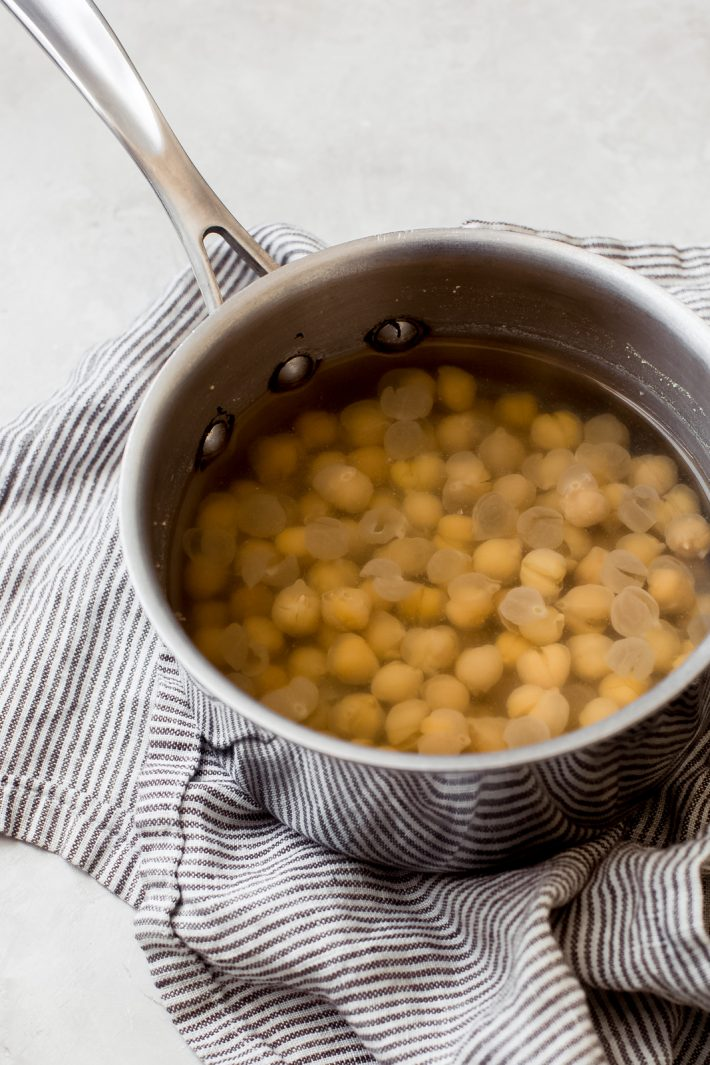 boiling chickpeas