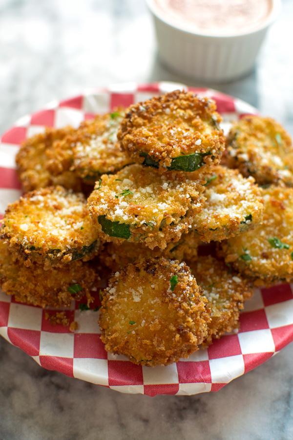 Crunchy Zucchini Parmesan Crisps