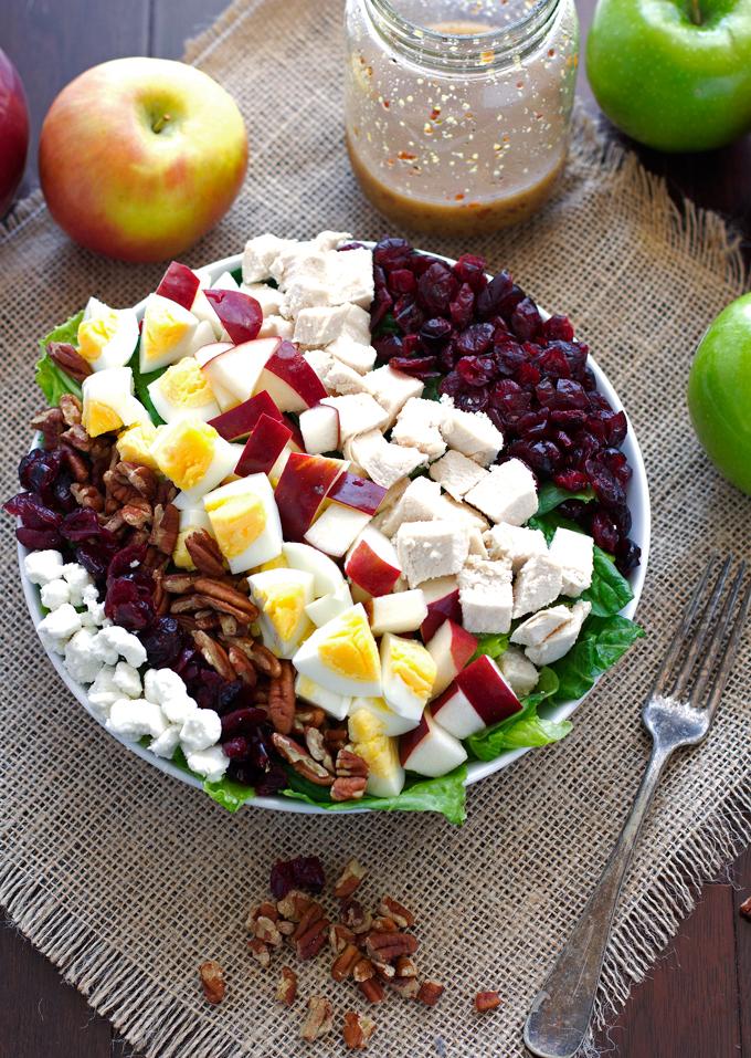 Autumn Harvest Salad with Sweet Dijon Vinaigrette