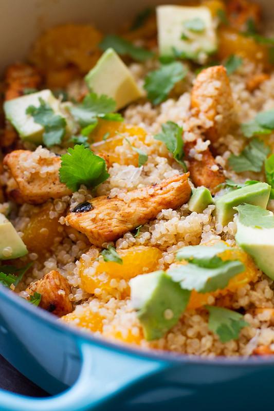 Light Citrus Chicken Quinoa Salad