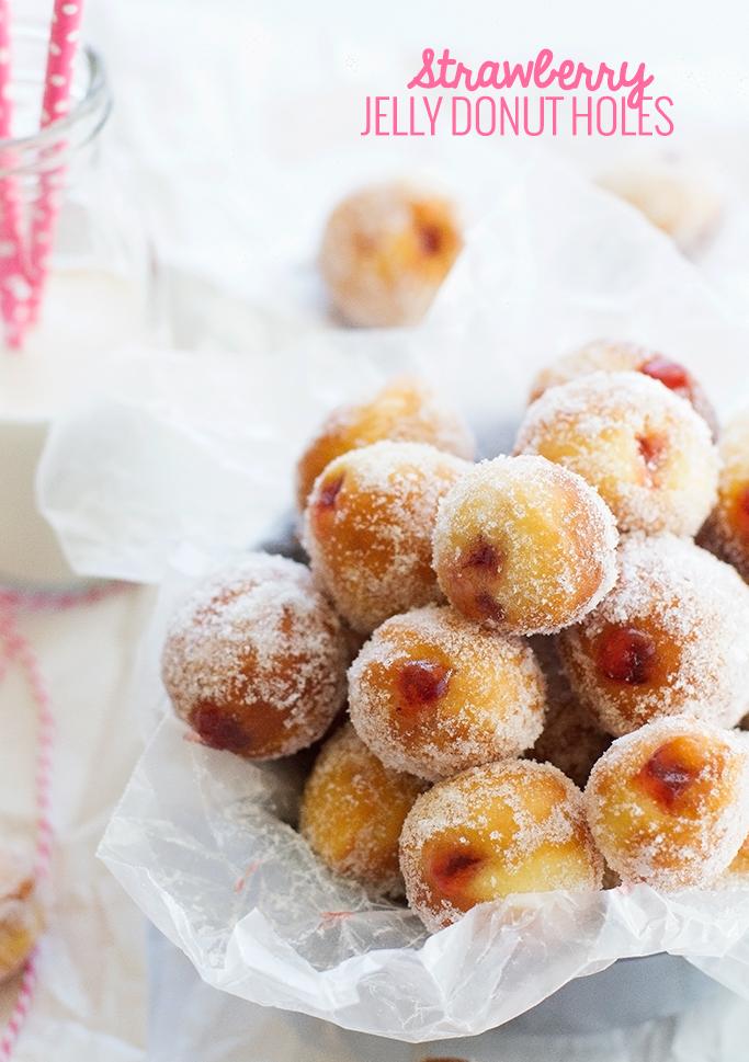 Strawberry Jelly Donut Holes