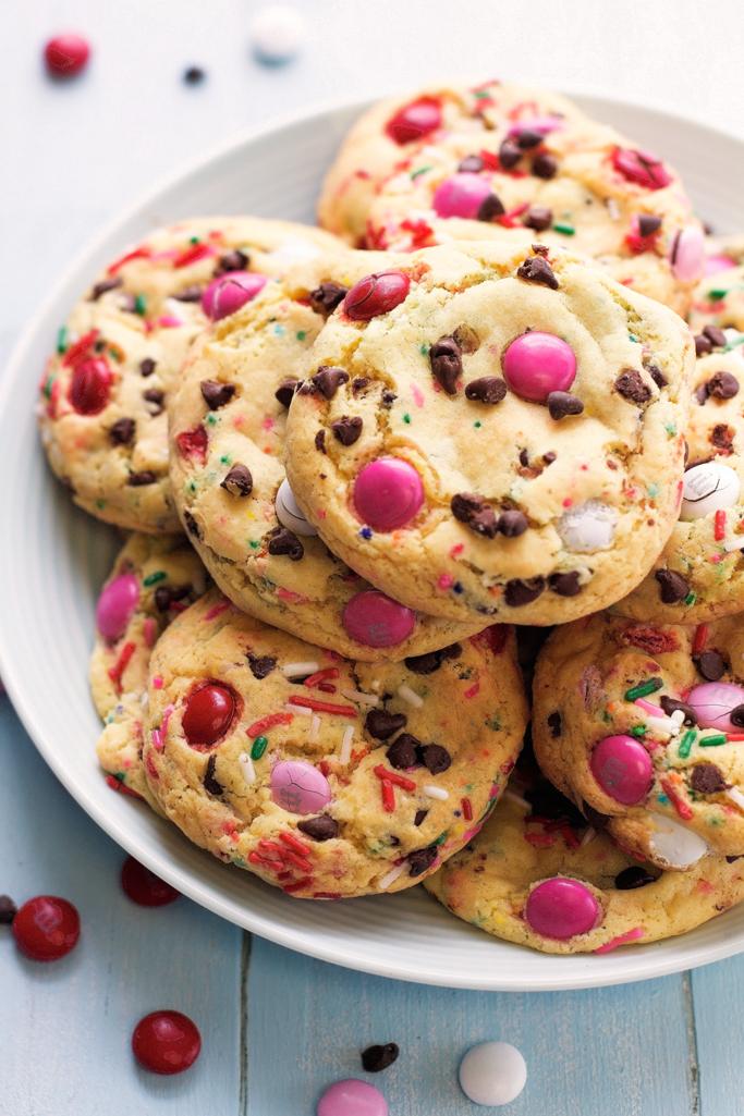 M&M Cake Batter Cookies