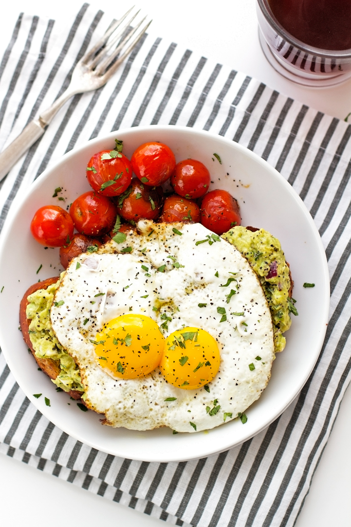 Guacamole-Style Avocado Toasts with Fried Eggs