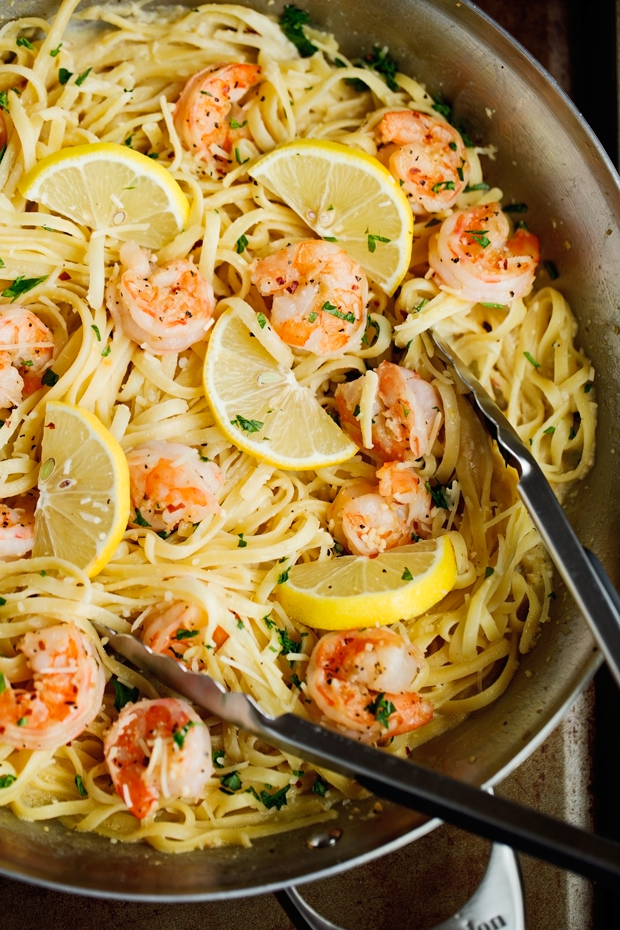 Shrimp Pasta with Lemon Cream Sauce