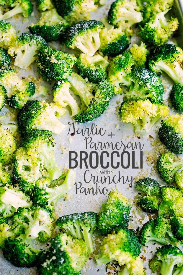 Garlic Parmesan Roasted Broccoli with Crunchy Panko