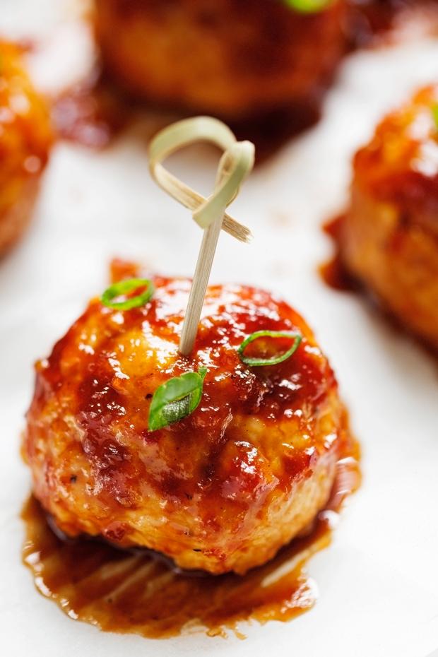 Hawaiian BBQ Chicken Meatballs