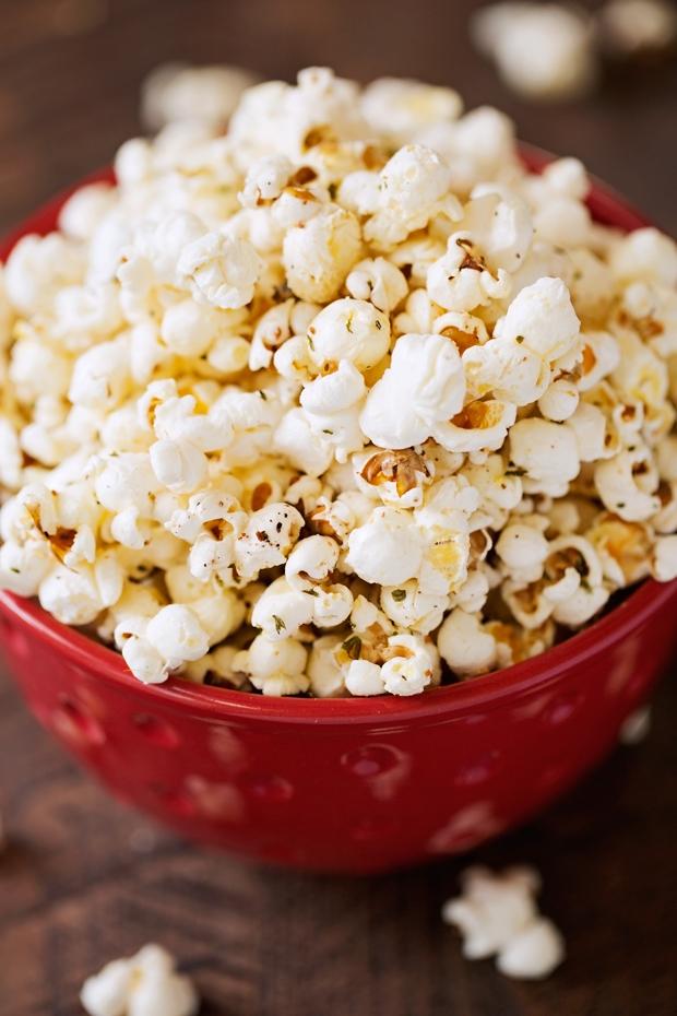 Garlic Parmesan Stovetop Popcorn