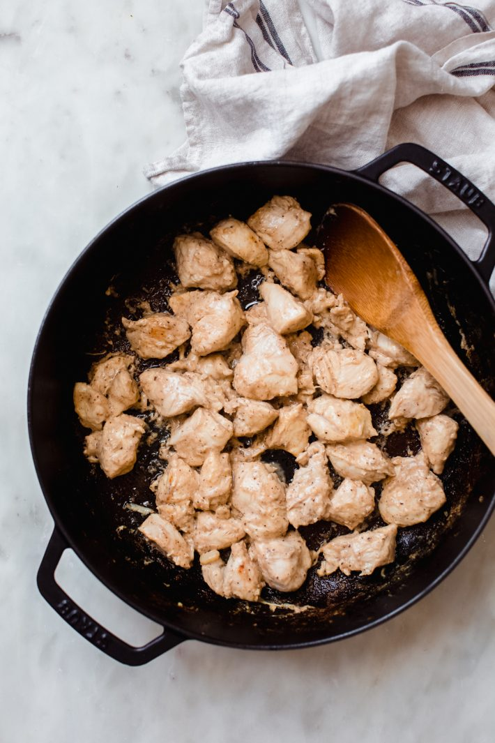 cooking chicken for tikka masala