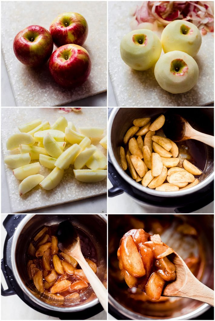 steps to making cinnamon apples in the instant pot
