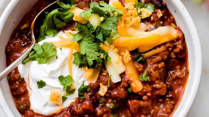 Easy Best Taco Chili Recipe Crockpot Ip Stovetop Little Spice Jar